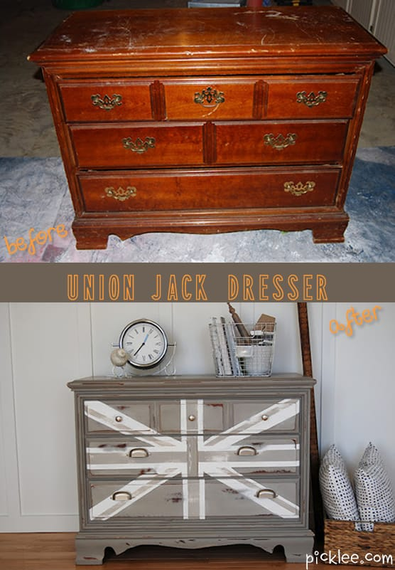 Your Pick Courtneys Union Jack Dresser Rehab  Picklee