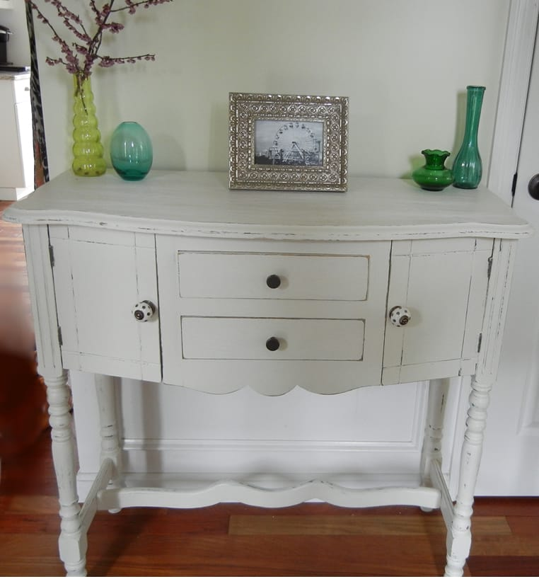 Transformed shabby chic console table picklee