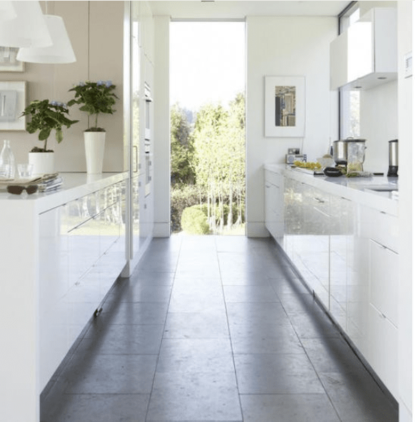 Galley Kitchen Flooring Ideas: 22 White Kitchens That ROCK...