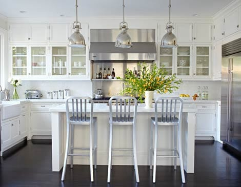 White Kitchens With Dark Wood Floors white kitchen dark floors