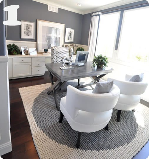 of grays and whites in this lovely home office centsational girl