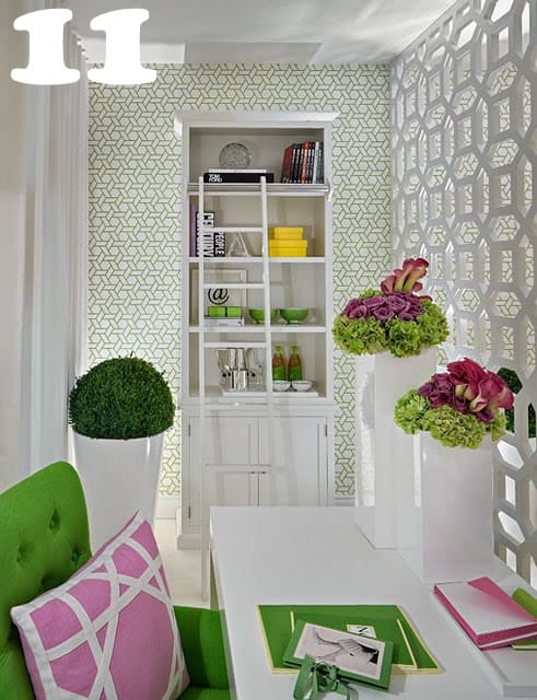 trendy home office. florals trendy home office o