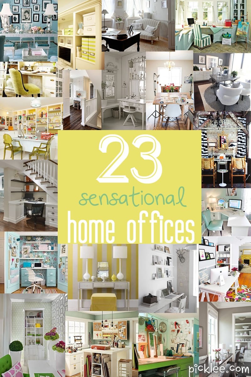 23 sensational home offices inspiration picklee for Office inspiration