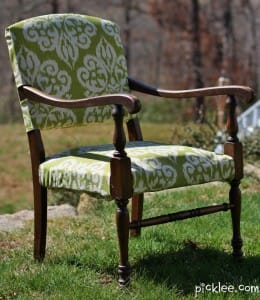 diy upholstry chair makeover side