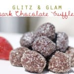 glitz and glam dark chocolate truffles