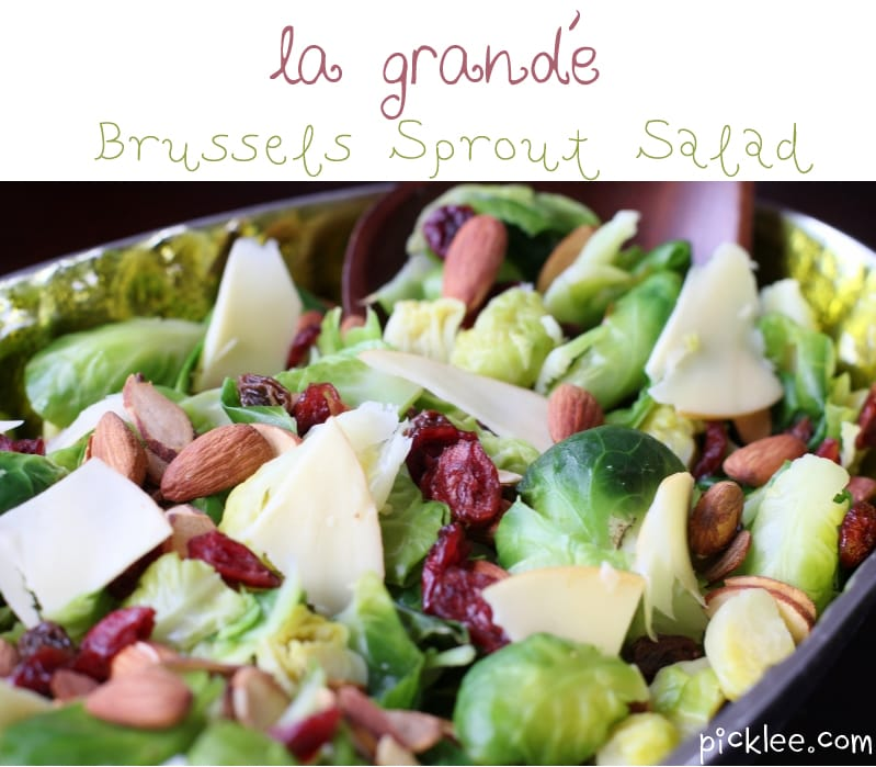 Two Blondes & a Brussels Sprout Salad {recipe} - Picklee