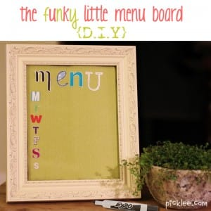 funky little menu board