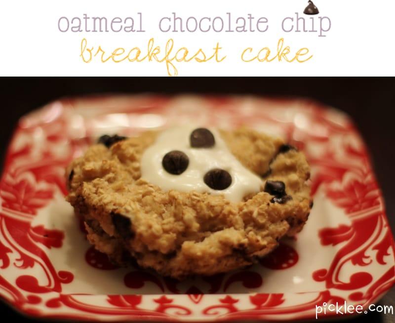 Oatmeal Chocolate Chip Breakfast Cake {Recipe} - Picklee