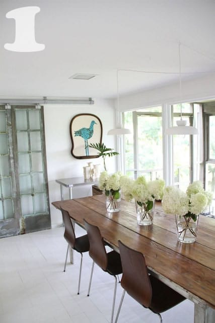 Modern Rustic Dining Room Chairs 14 fabulous rustic chic dining tables {inspiration} - picklee