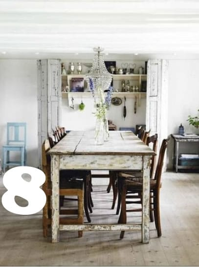 14 Fabulous Rustic Chic Dining Tables Inspiration Picklee