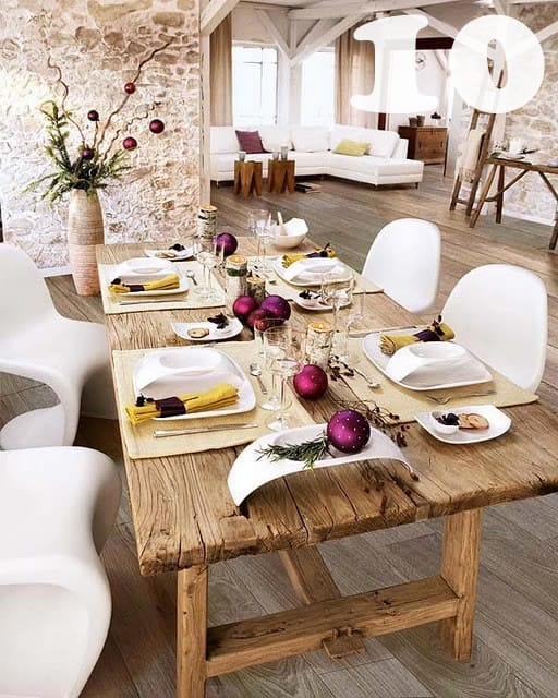 Houzz Dining Room Reclaimed Top Table