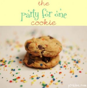 the party for one cookie-chocolate chip cookie