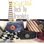 upcycled neck tie bracelet