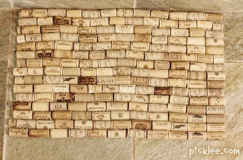 Wine Cork Bath Mat Diy Tutorial Picklee