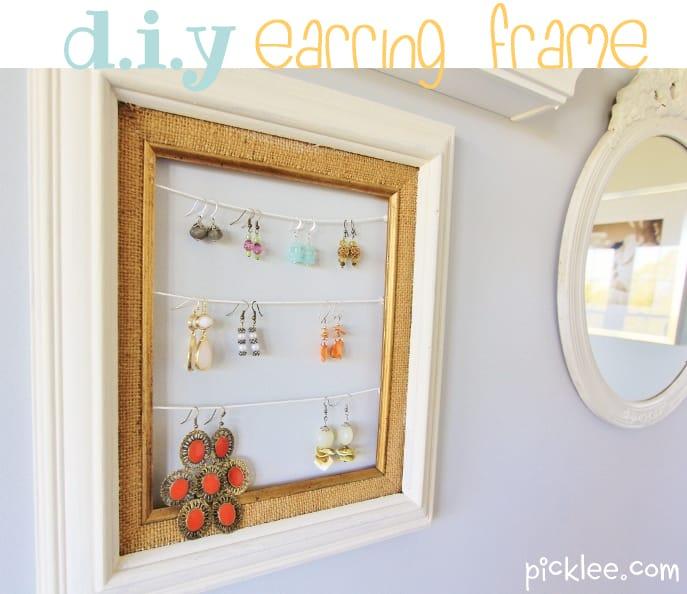 diy earring frame