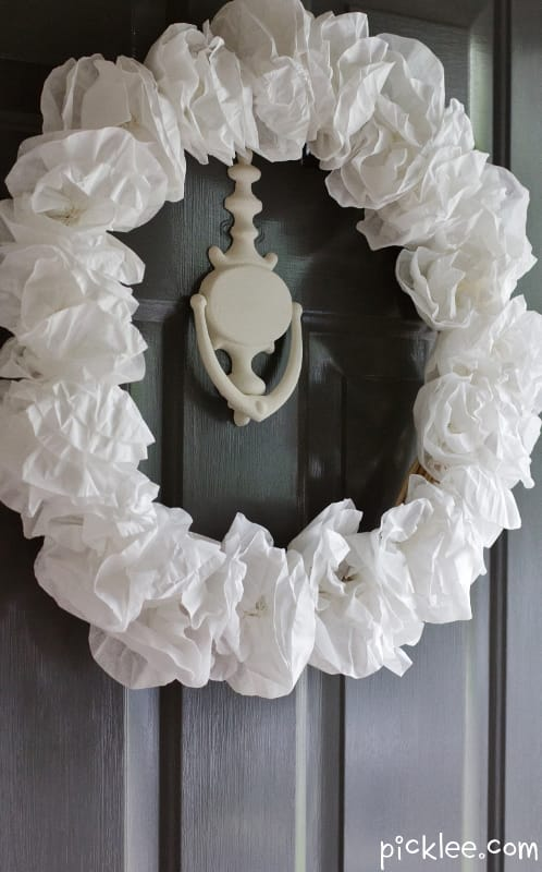 the lavish white  u0026quot faux u0026quot  hydrangea wreath  diy
