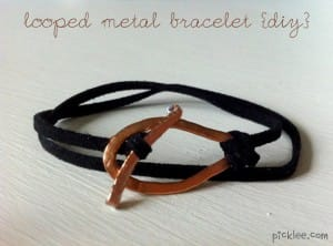 looped metal bracelet