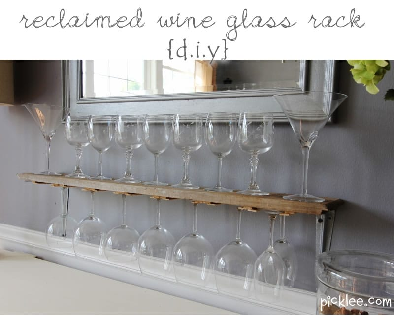 Reclaimed Wine Glass Rack Picklee