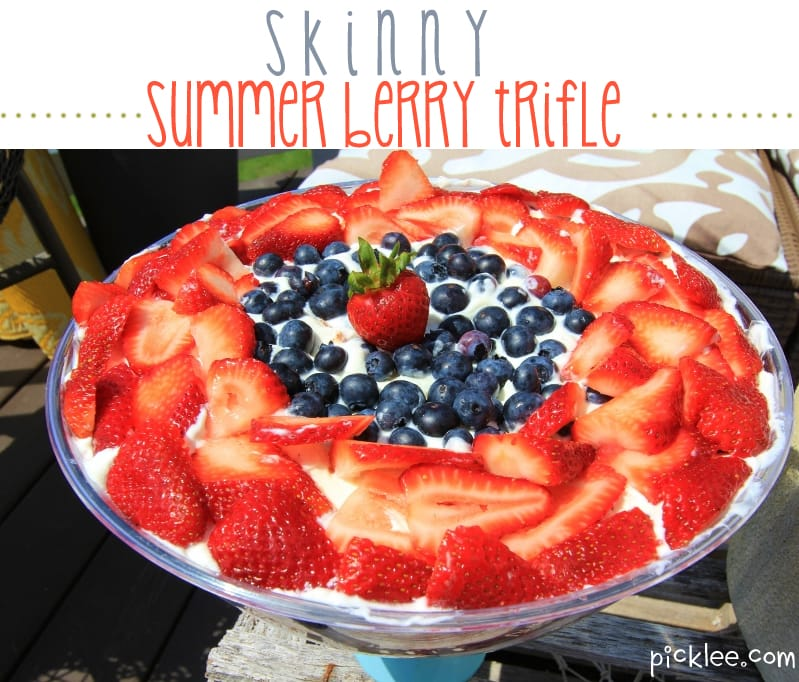 The Skinny Summer Berry Trifle {4th of July recipe} - Picklee