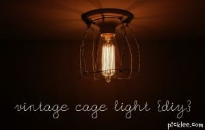 vintage cage light diy