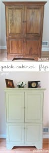 green cabinet flip before and after