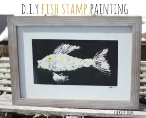 diy fish stamp painting