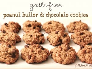 guilt free peanut butter chocolate cookies