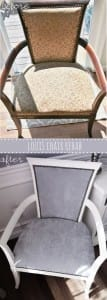 louis xvi chair rehab-diy before and after