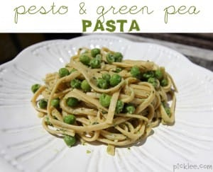 pesto green pea pasta