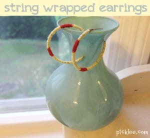 string earrings