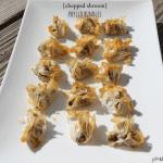 chopped mushroom phyllo bundles