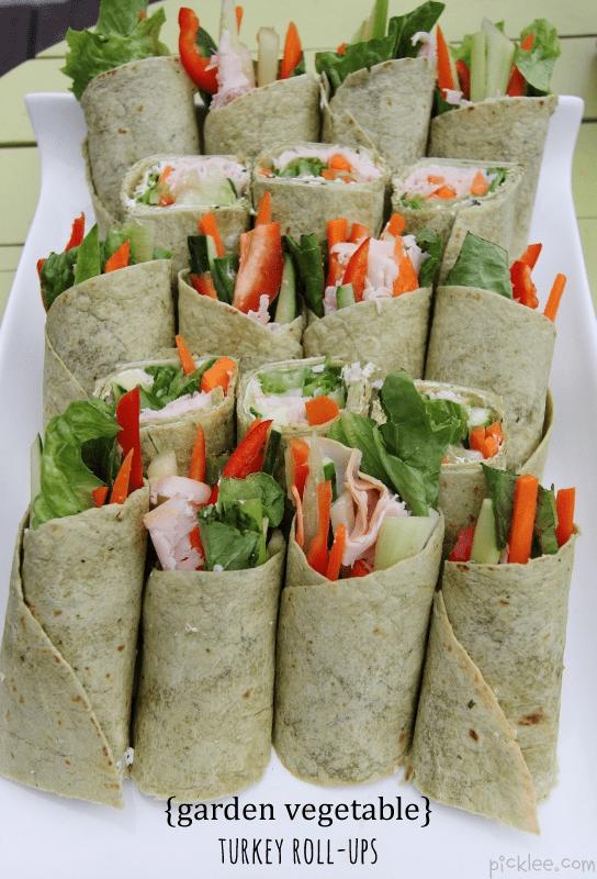 Garden Vegetable Turkey Roll Ups Recipe Picklee
