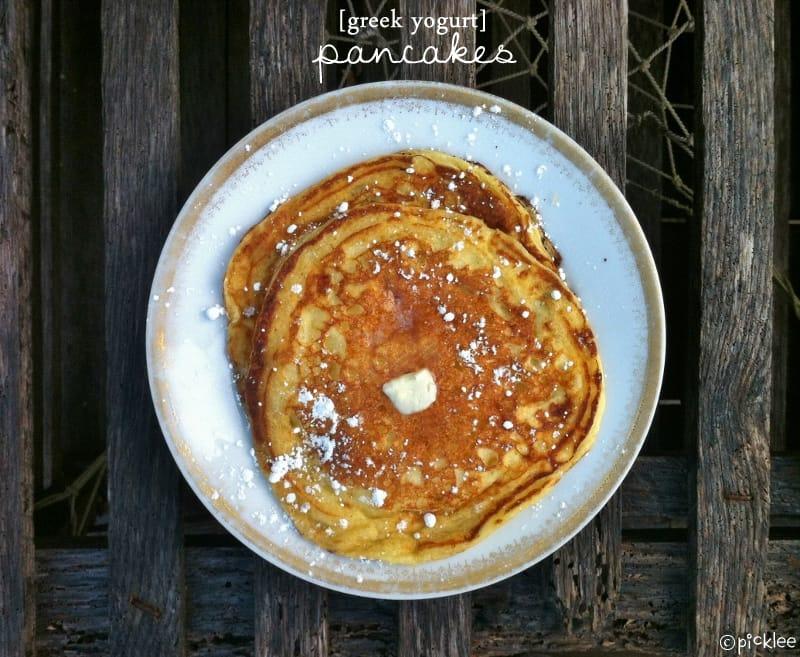 Greek Yogurt Pancakes {recipe} - Picklee