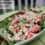 strawberry spinach salad blue cheese recipe