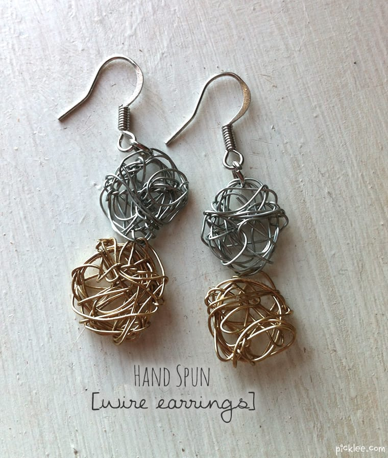 Hand spun wire earrings diy picklee