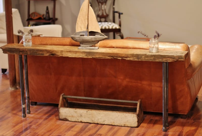 Rustic Wood Iron Table Diy Picklee
