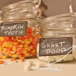 Pumpkin teeth-ghost poop