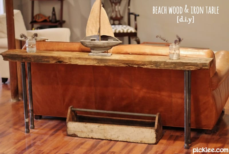 Rustic Wood U0026 Iron Table [DIY]