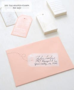 diy tag stamp envelope