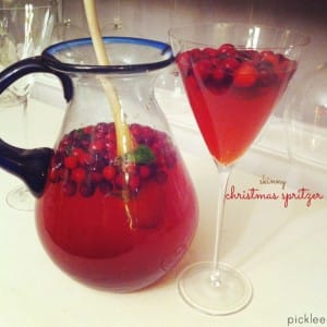 christmas cranberry cocktail-skinny