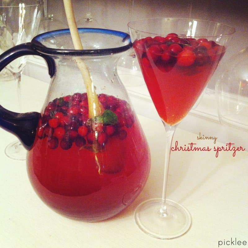 Skinny Christmas Cranberry Spritzer [cocktail]