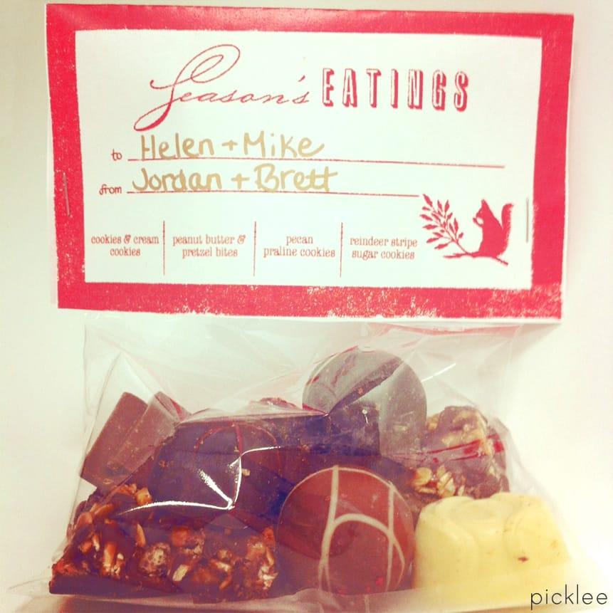 holiday treat bag  diy   free printable
