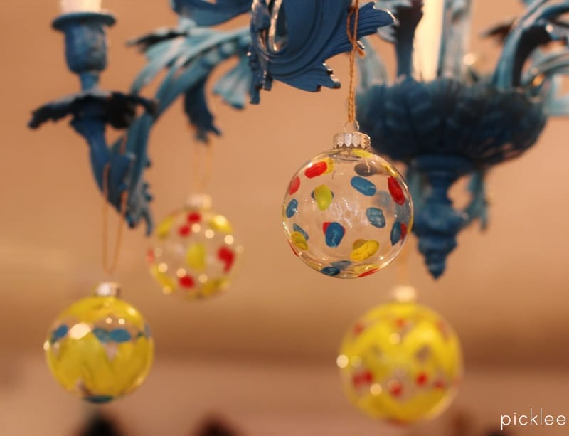 Polka Dot Christmas Ornaments