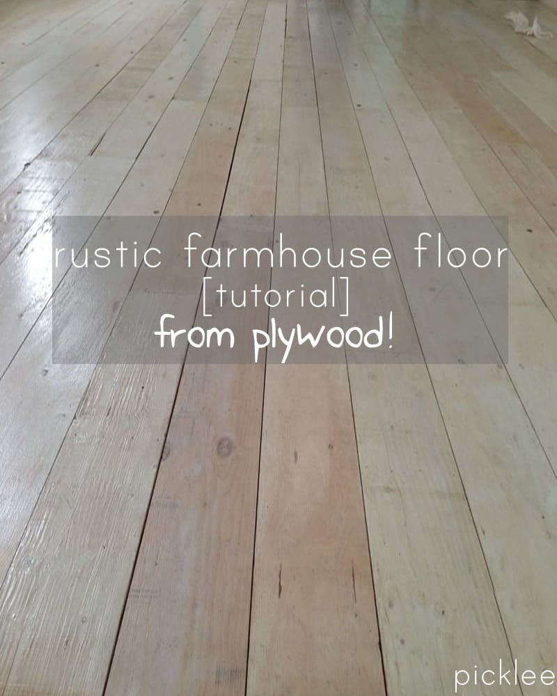 Farmhouse wide plank floor made from plywood diy picklee plywood floor tutorial solutioingenieria Gallery