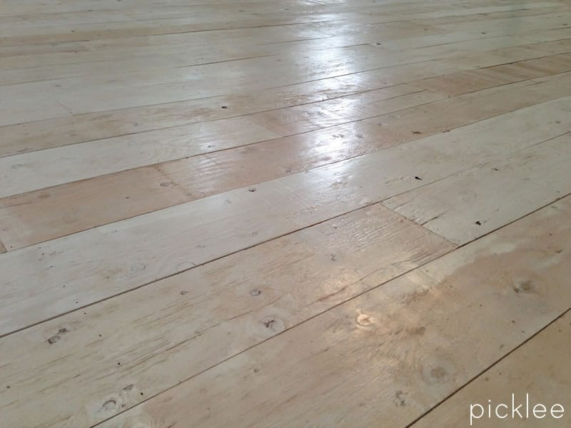 Linoleum strips that look like wood