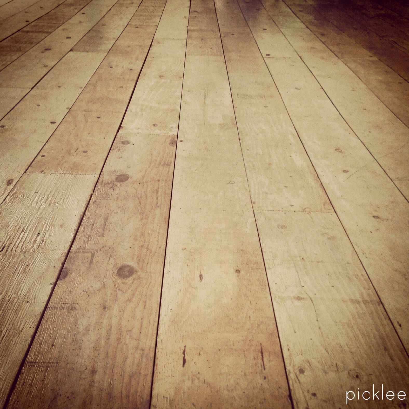 Wide Plank Flooring : Plywood floor painted white farmhouse