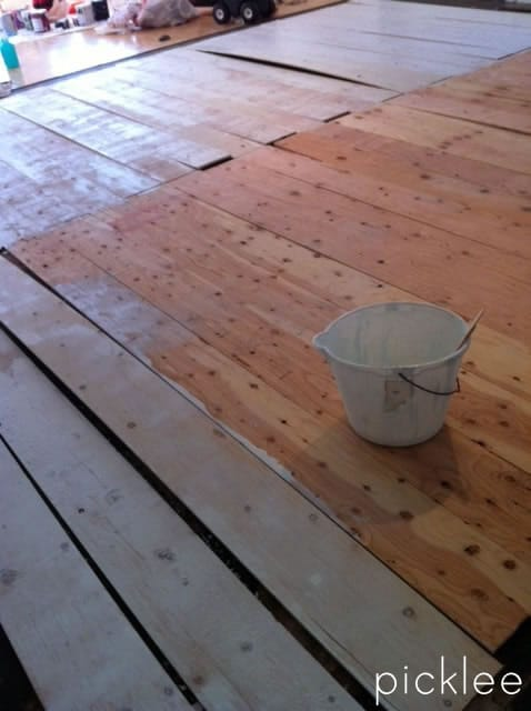 Plywood Floor Diy Wide Plank White Wash1