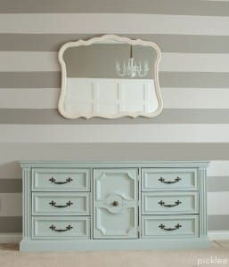 mint-painted dresser-buffet