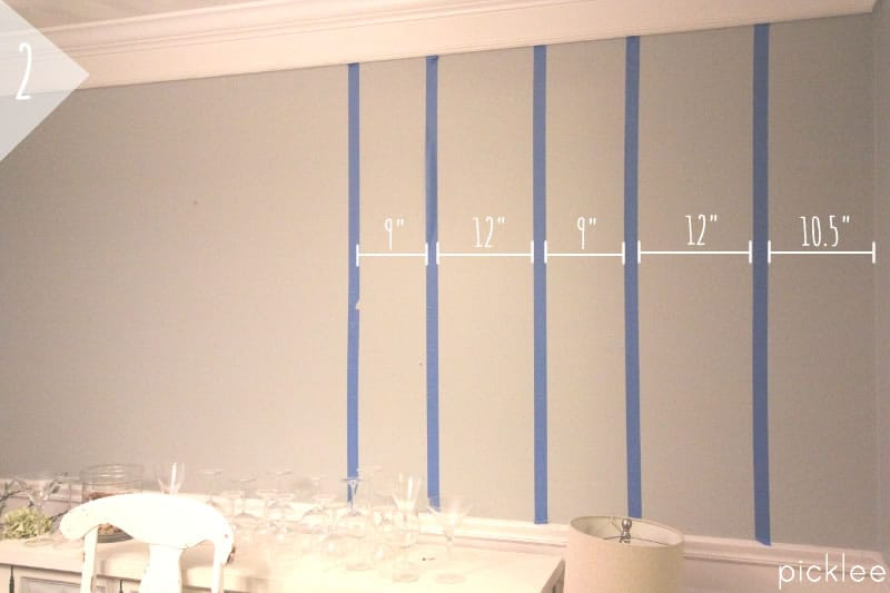 How to Paint Simple Wall Stripes DIY Picklee