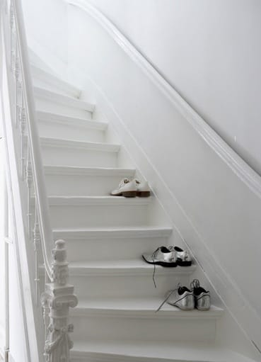 Painting Stairs White